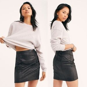 [Free People] NWT Rumi Ruched Mini Skirt